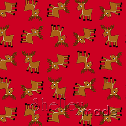 Christmas Coordinate - Reindeer Structured Red