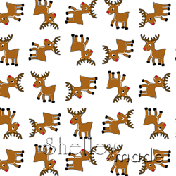 Christmas Coordinate - Reindeer Structured White