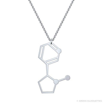 Nicotine Molecule Necklace - 925 Sterling Silver - My Boho Jewelry