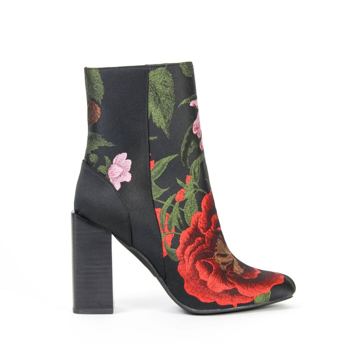 STRATFORD High Ankle Boot Floral Brocade