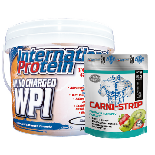Amino Charged WPI + Carni Strip by International Protein