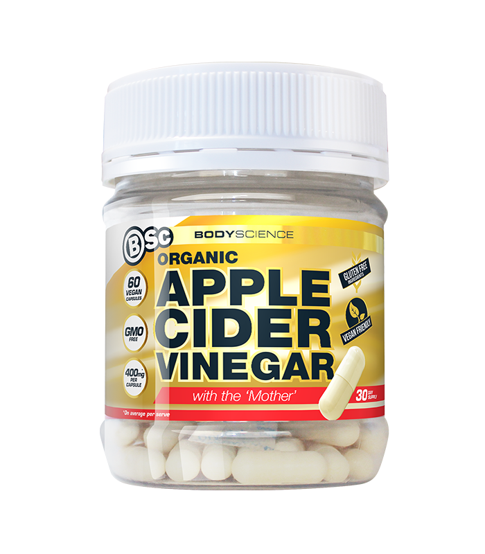 Organic Apple Cider Vinegar 60 Capsules by Body Science