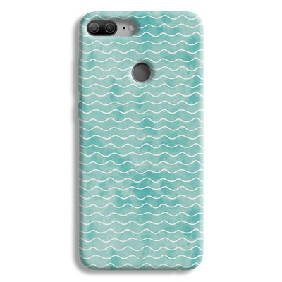 Wavy Blue Pattern Honor 9 Lite Case