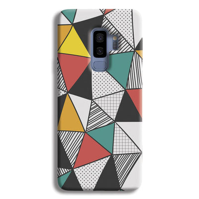 Triangle Abstract Pattern Samsung Galaxy S9 Plus Case