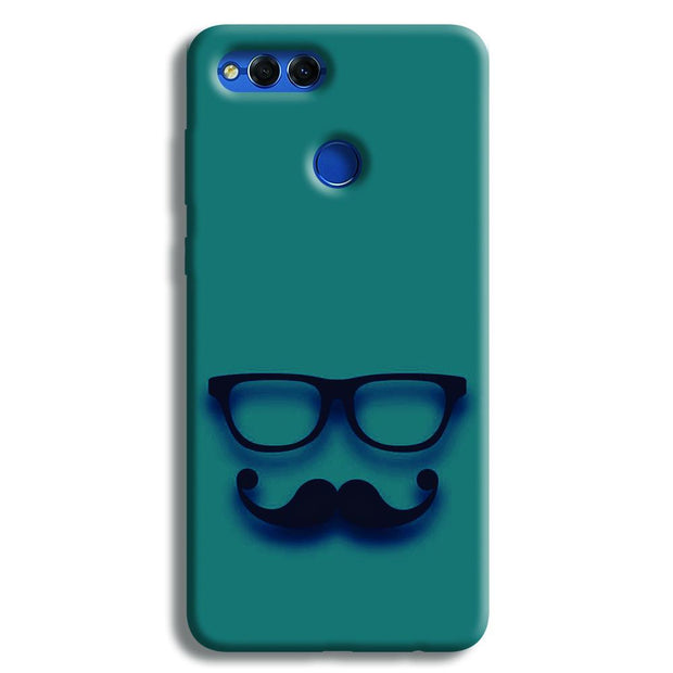 Cute mustache Blue Honor 7X Case