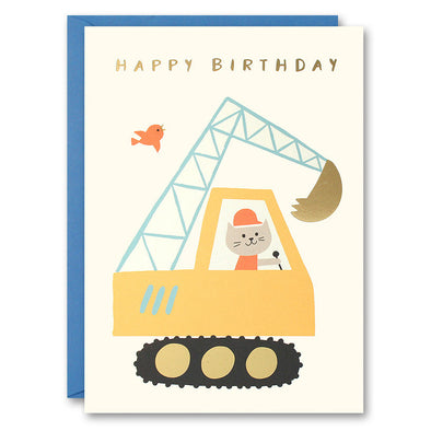 HE2613 - Digger Cat Card
