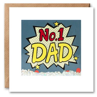 PK2650 - No. 1 Dad Kapow Shakies Card