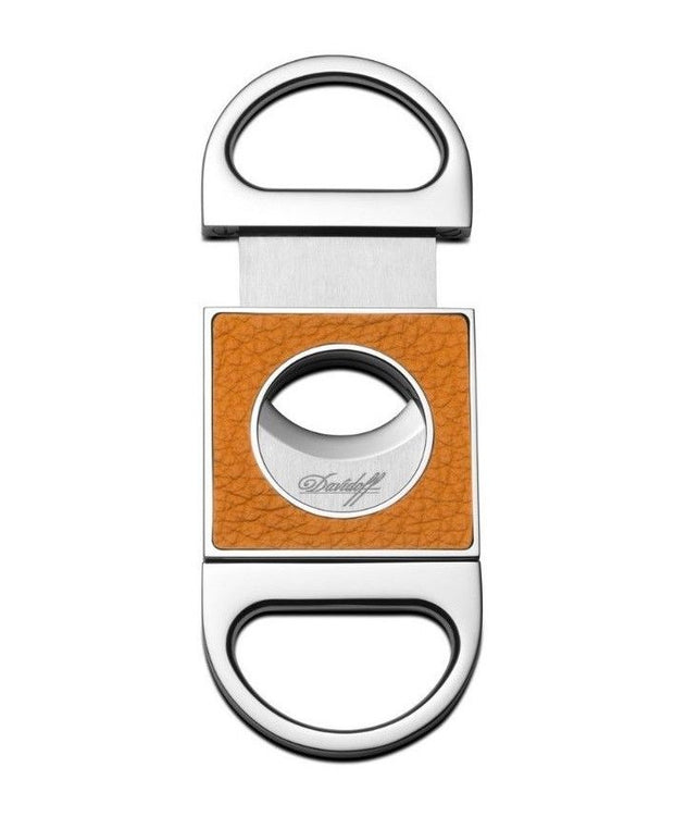 Davidoff Saffron Leather Double Blade Cigar Cutter 101750-Davidoff-Truphae