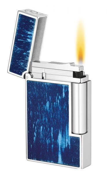 ST Dupont Ligne 2 75th Anniversary Blue Lacquer Lighter ST016261-ST Dupont-Truphae