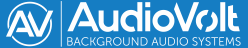 Audio Volt Background Audio Systems Logo