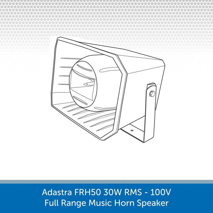 Line Drawing of a Adastra FRH50 30W 100V Full Range Music Horn Speaker