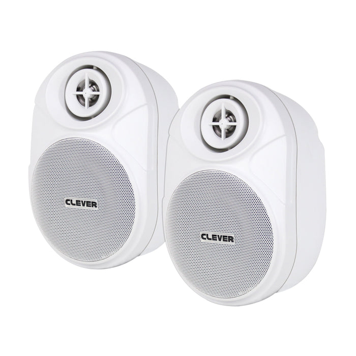 Clever Acoustics BGS 20T White 100V Wall Speakers (Pair)