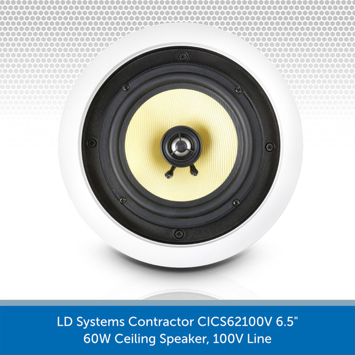 "LD Systems Contractor CICS62100V 6.5"" 60W Ceiling Speaker without grille"