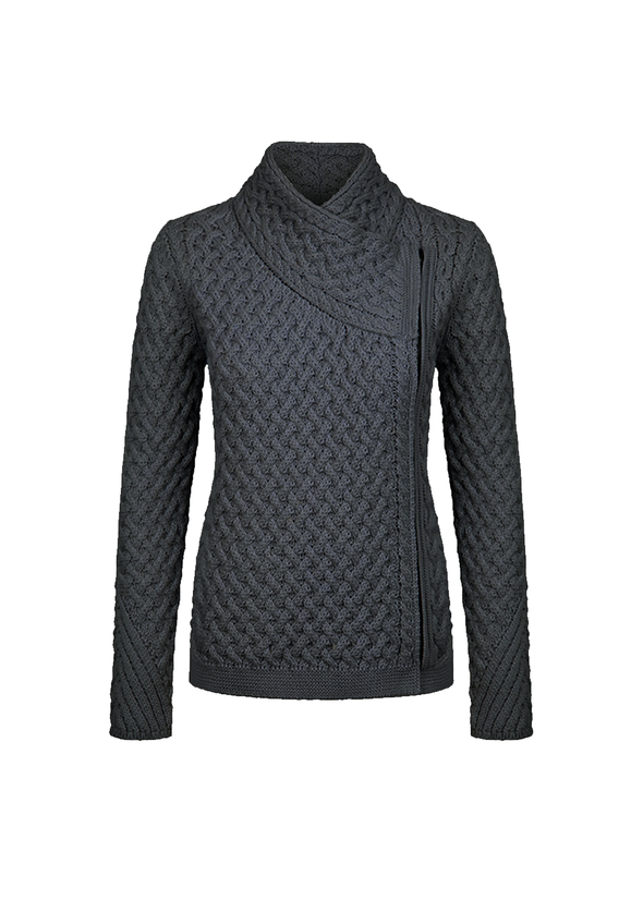 Ladies Carlow/Trellis Short Biker Cardigan