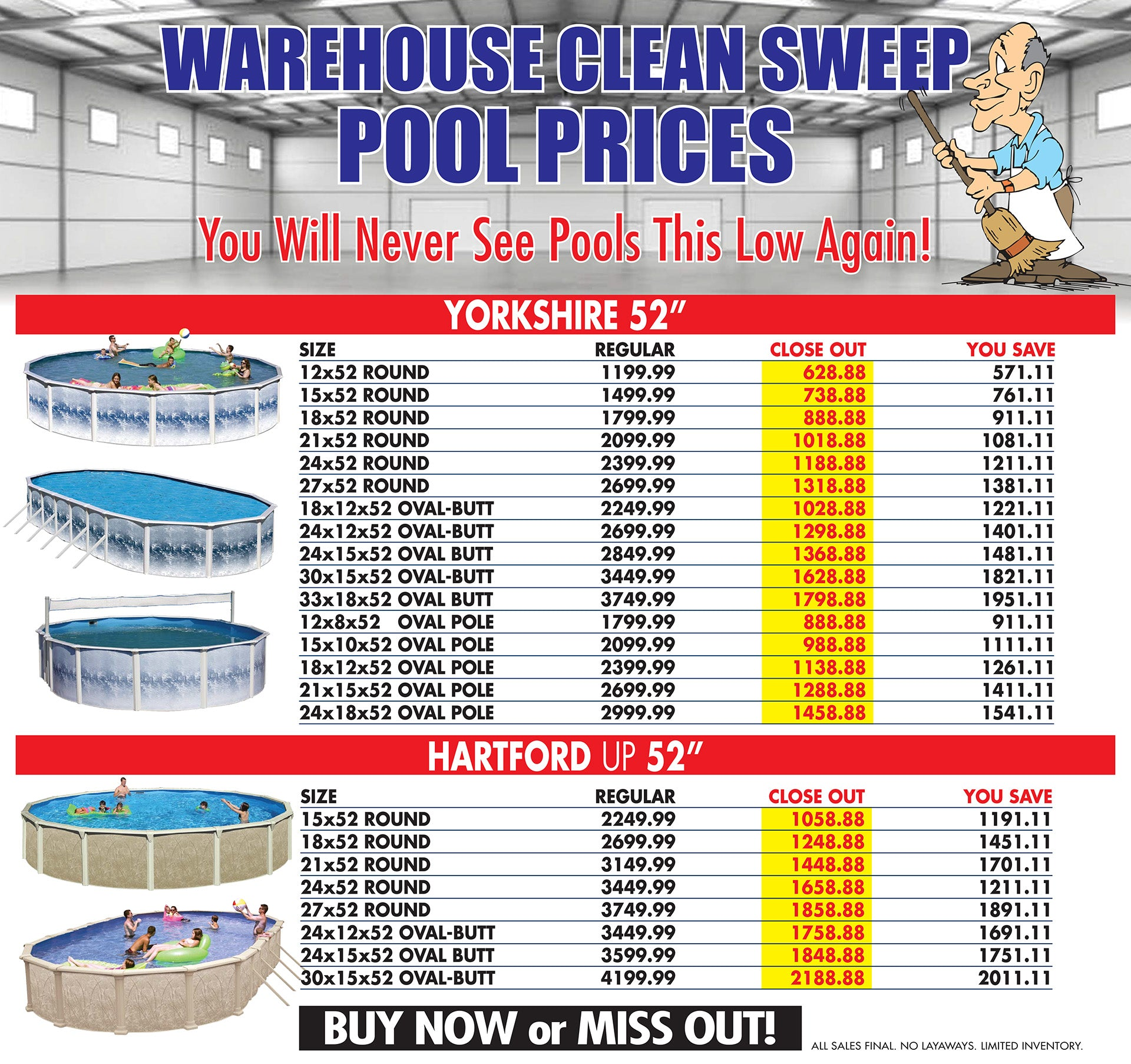 Swimming Pool Sale