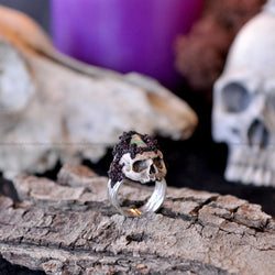 RESERVED - Custom Order  Sculpted Skull Ring