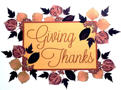 Holiday Cards - Leaves Berries - Giving Thanks