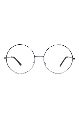 You're A Wizard! Large Round Wire Sunglasses - Silver