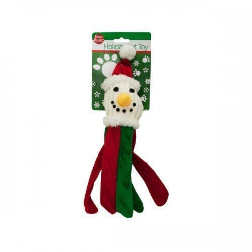 Plush Holiday Dog Toy With Crinkle Strips (pack of 4)