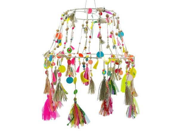Light Shade - Flouro - Tassels