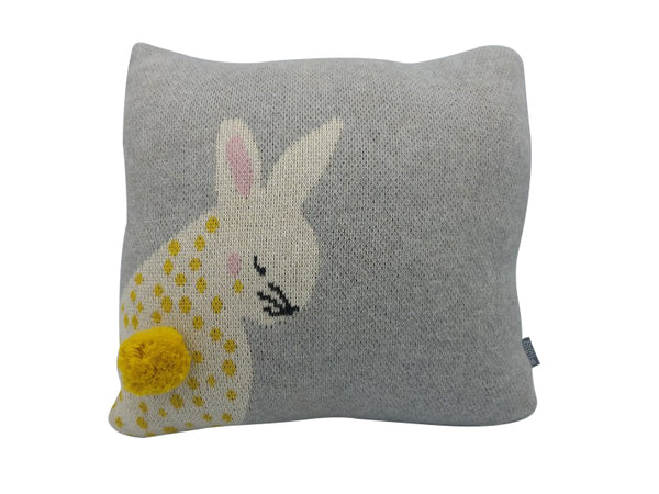 Cushion - Big Teddy, Yellow Bunny