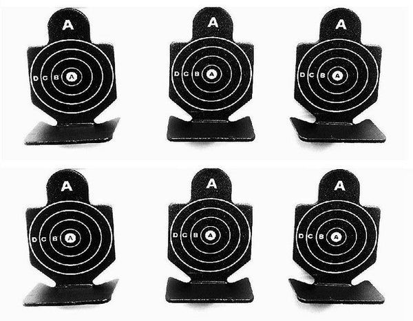 Pack of 6 - ARMYFORCE Silhouette Matel Mini Target - Type A #AF-MC0002