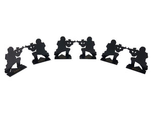 Pack of 6 - ARMYFORCE Soldier Silhouette Matel Mini Target Type 1 #AF-MC0033