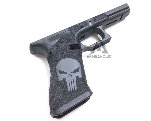 ArmsAholic Custom Punisher Lower Frame (Black) for Marui G17 / 18C Airsoft GBB
