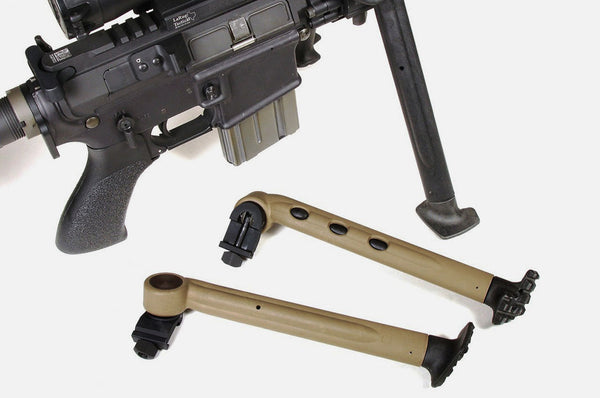 Side Mounted Bipod Leg Set - Tan / Black