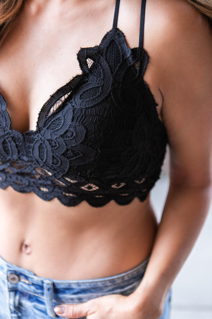 Black Scalloped Bralette