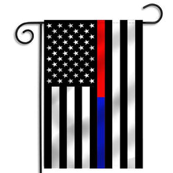 Thin Red Line & Thin Blue Line Dual Garden Flag, 12 x 18 Inches