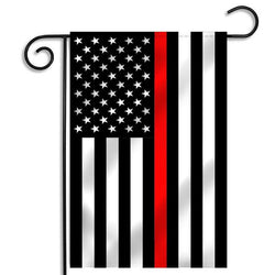 Thin Red Line American Flag , 12 x 18 Inches