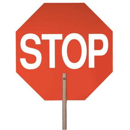 "14"" Aluminum Traffic Safety Stop/Slow Paddle Signs"
