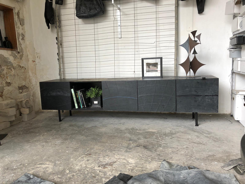 Black Lounge Buffet Storage