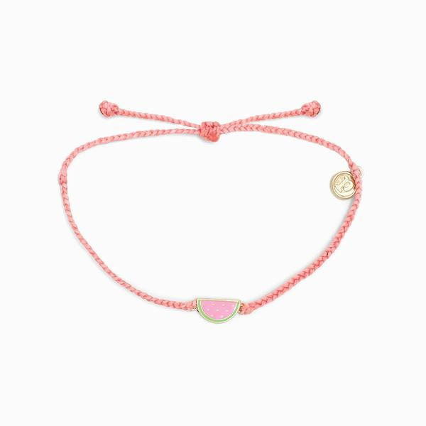 Enamel Watermelon Braided Bracelet