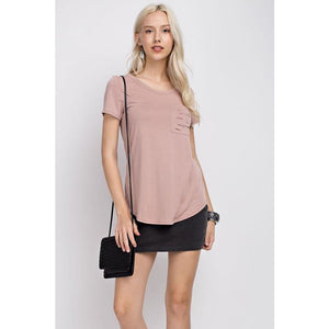 Ellie Tee with Ripped Pocket