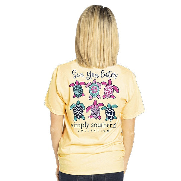 Youth Preppy Sea (Butter) Simply Southern Tee