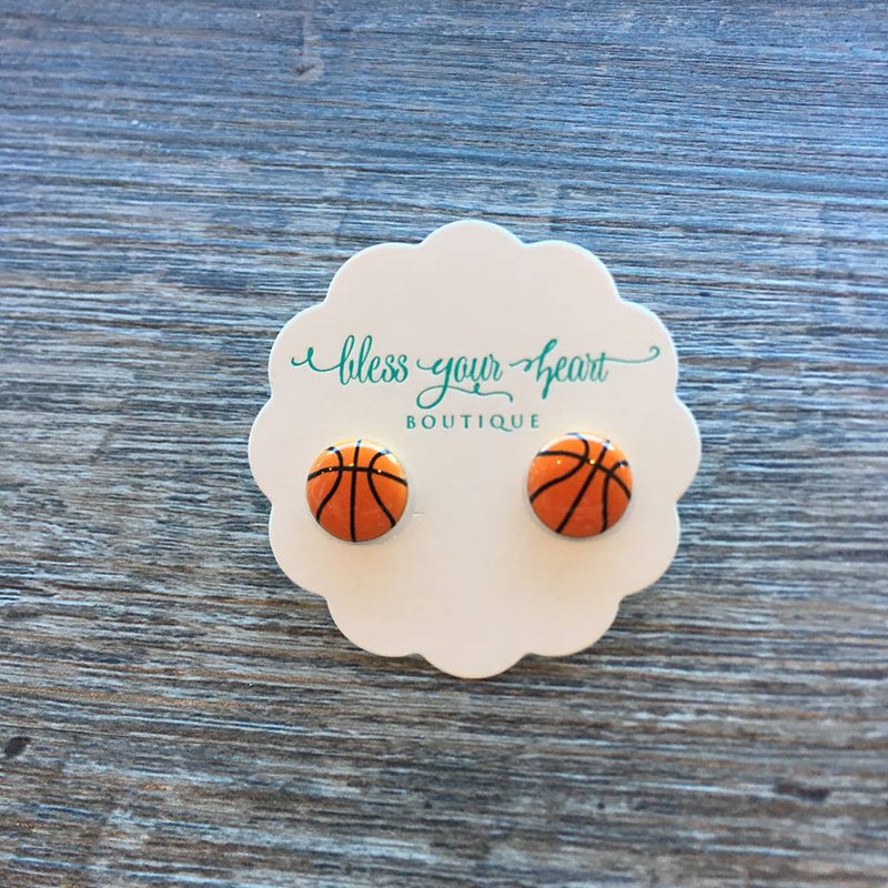 Basketball Signature Enamel Studs