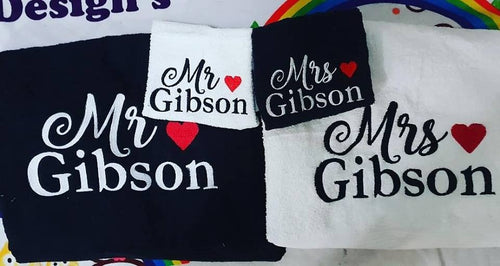 Wedding Gift Towel Set Mr&Mrs