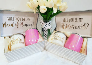 Will You be my Bridesmaid/maid of hounour Gift Boxes