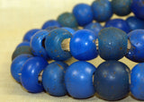 "Large Blue Dogon Rounds! 24""strand"