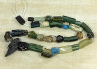 Strand of Rare Colors of Ancient Roman Glass