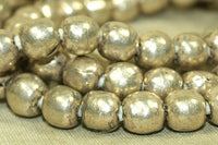 8mm Silver Color Round Beads from Ethiopia