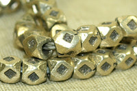 Strand of tiny Silver Tone 4mm Cornerless Cubes