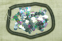 5mm Shiny Silver Vintage Sequins, colorful AB