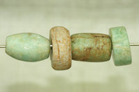 Set of four Ancient Amazonite Beads