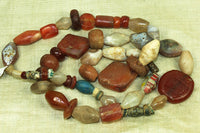 Ancient Mixed Stone and Glass Strand
