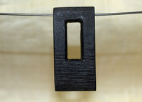 Black Palmwood Component-Pendant; Lou Zeldis Collection