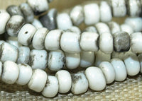 Strand of 10º Grey and White Indonesian Seed Beads; Lou Zeldis Components