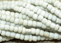 Strand of 10º White Indonesian Seed Beads; Lou Zeldis Components
